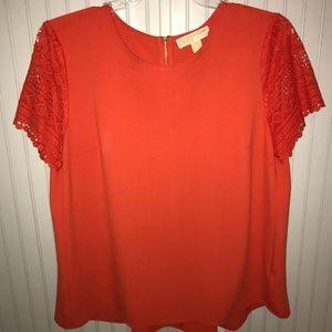 Michael Kors lace sleeve shirt